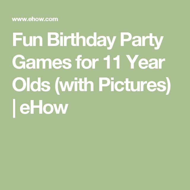 Fun Birthday Party Games For 11 Year Olds