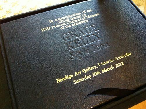 Book presented to Princess Charlene of Monaco #custombinding #deluxebinding