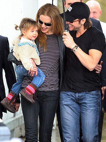 Keith Urban and Nicole Kidman with Sunday Urban