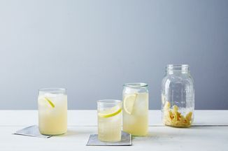 Switchel Recipe on Food52, delicious, could have on own or add bourbon, Perrier and lemon ice cube