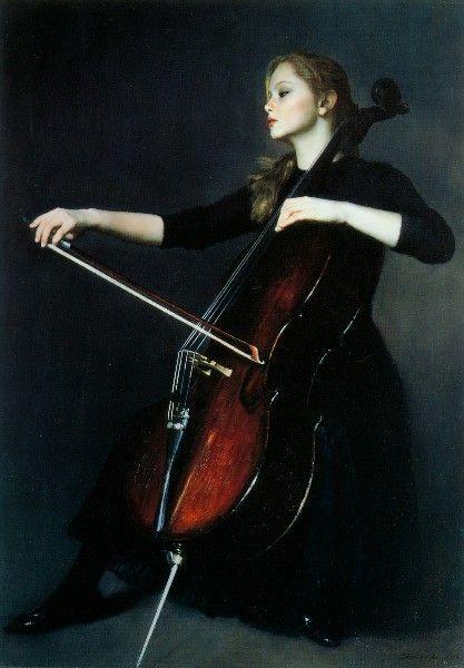 Yifei Chen, Cello Woman on ArtStack #yifei-chen #art