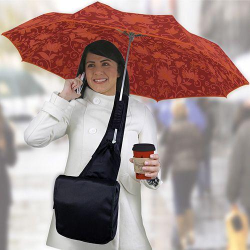 Umbrella Messenger Bag Holds Your Umbrella For You
