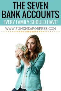 The 7 bank accounts every family should have to keep budgets and your finances in check! Don't be overwhelmed, and let things spiral... I can help! www.BudgetBootCamp.com