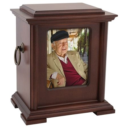 Honor Photo Wood Cremation Urn for Ashes by Howard Miller | Stardust Memorials