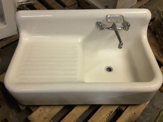American Standard Antique vintage farm house cast iron sink