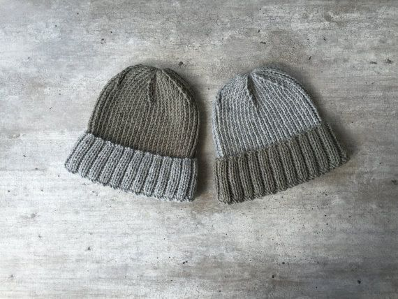 Mens Knit Hat Mens Hat Man Beanie Fisherman Beanie by woolpleasure