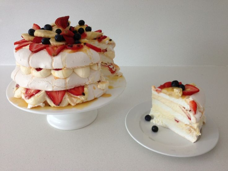 Pavlova Recipe Happy Australia Day - HowToCookThat : Best Birthday Cakes Desserts Parties Gingerbread Houses & Cake Pops