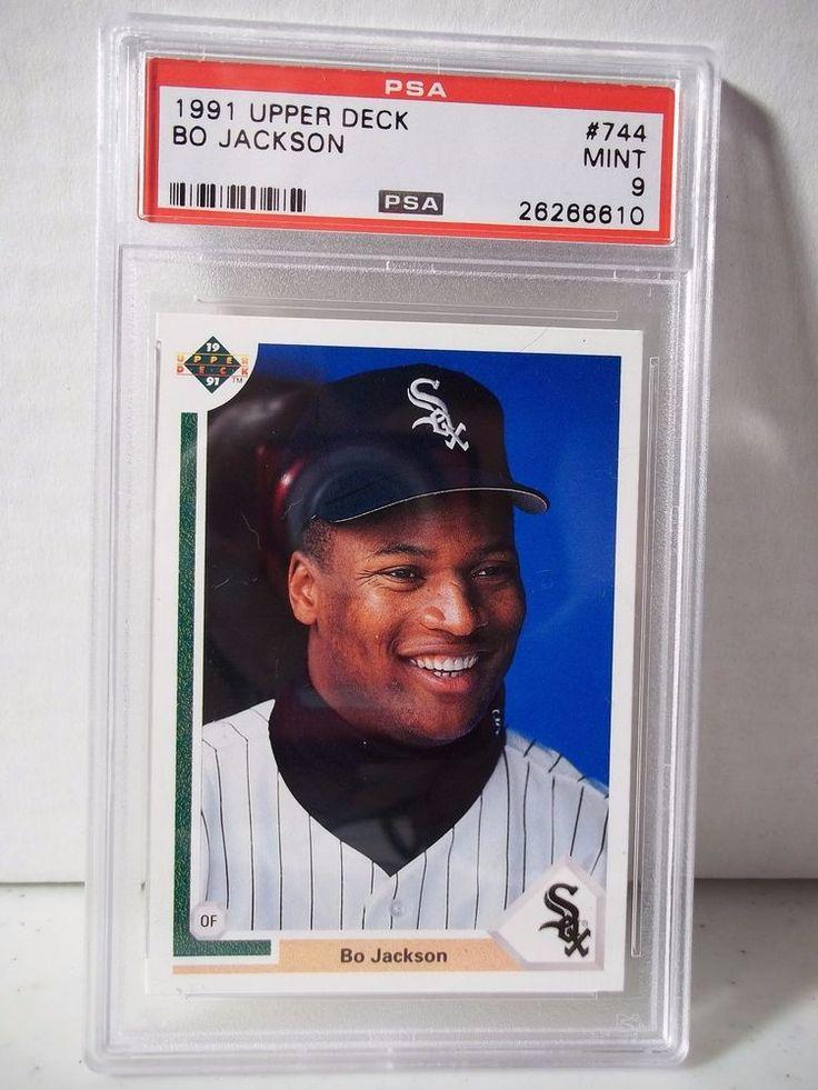 1991 upper deck bo jackson psa mint 9 baseball card 744