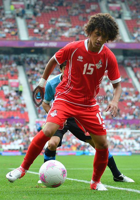 July 26, 2012..UAE's Omar Abdulrahman (15). UAE vs Uruguay Football match during 2012 Olympic Games at Old Trafford in Manchester, England. Uruguay defeat United Arab Emirates 2-1...
