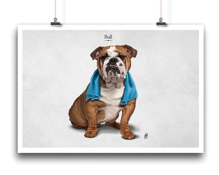 Bull | Shop art | decor | wall art | inspiration | caricature | home decor | idea | humor | gifts