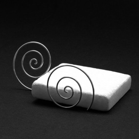 Silver Spiral Earrings Small Wire Spiral by PiscesAndFishes