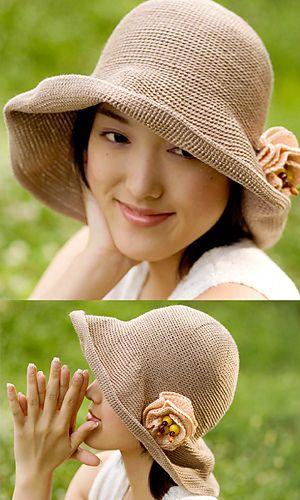 Relax Ramie Hat: free pattern http://gosyo.co.jp/english/pattern/eHTML/ePDF/1103/4w/27-G723H_Relax_Ramie_Hat.pdf