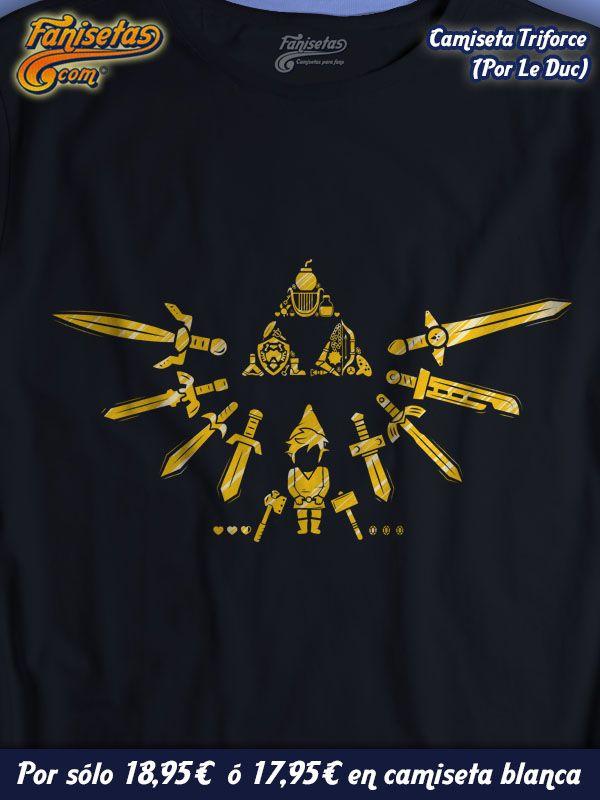 """Triforce"" #TheLegendOfZelda #Camisetas #Videojuegos #Fanisetas http://www.fanisetas.com/camiseta-triforce-p-4631.html"