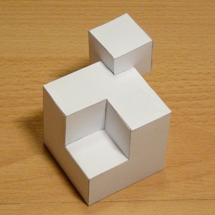 Paper model cubic shape 3