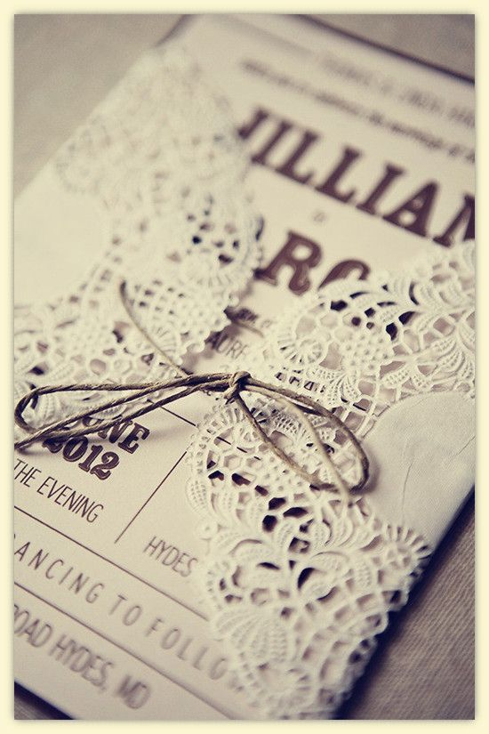 Rustic Lace Wedding Invitations | Choose Your Invitation Style – Vintage Wedding Invitations | Bridal ...