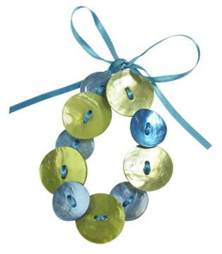 Turquoise & Lime Ribbon Bracelet