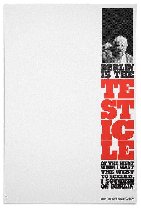 Sean Adams, Soviet Dialogues poster, 2015