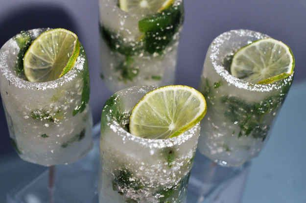Mojito Shotsicles | 19 Shot Glasses You Can Eat