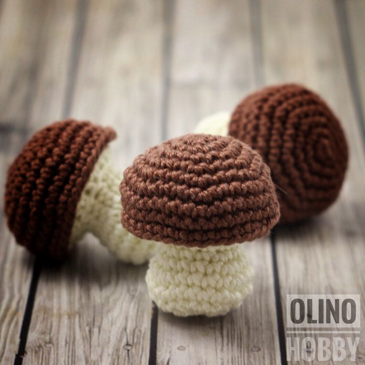 PORCINI MUSHROOM crochet pattern - PDF crochet food pattern Bolete pattern Crochet play food patterns Pretend mushroom Pattern for play food by OlinoHobby on Etsy