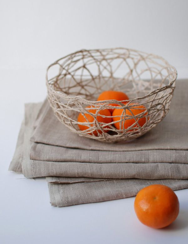 DIY: string bowl