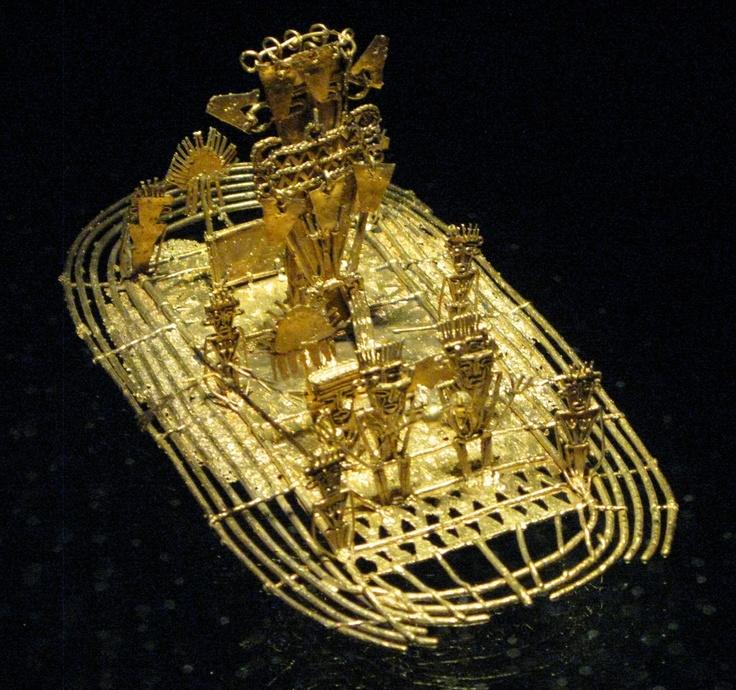 La Leyenda del dorado Museo de Oro Bogota Colombia.