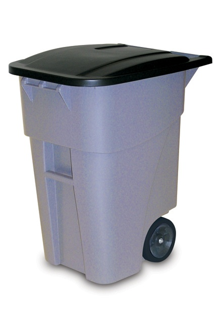 BRUTE Rollout Container with Lid: Easy mobility for general refuse collection and material handling.