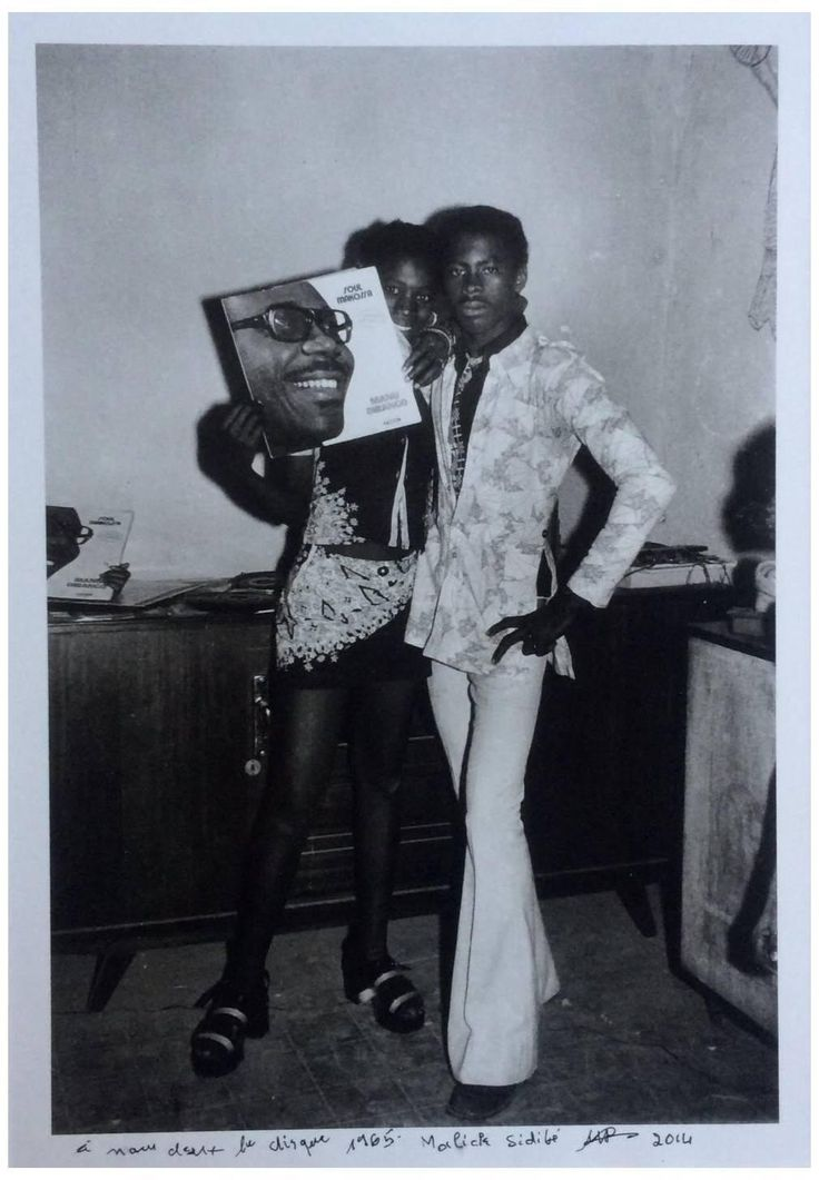 """Malick Sidibé, """"A nous deux le disque (1965)"""", 2014, Gelatin Silver Print"""