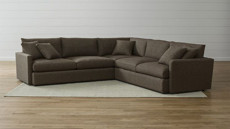 """$3997 Lounge II 3-Piece Sectional Sofa Crate & Barrel.   124"""" x 124"""" x 37""""overall ht. x 46""""deep.  Comes in much smaller configurations & sofa, apartment sofa, etc.  This is one of the only sofas I've found that is deep enough to lay down on & be comfy"""