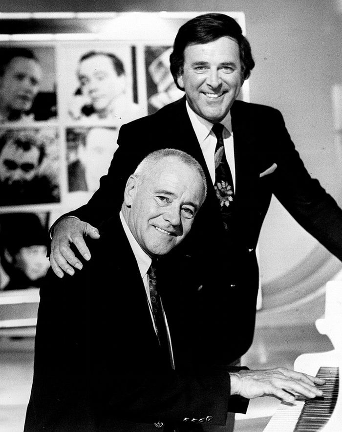 With actor Jack Lemmon on the Wogan chatshow in 1989