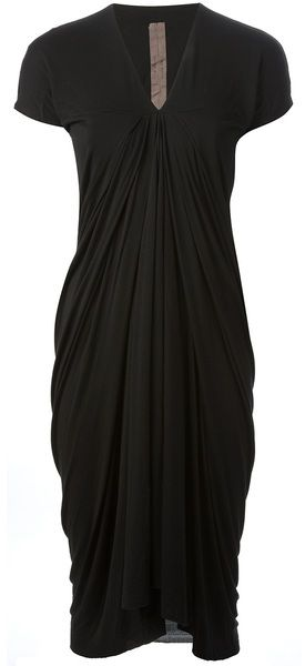 Rick Owens Athena Jersey Dress something underneath the top.