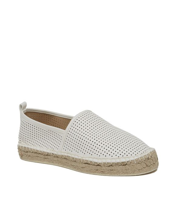 Perforated Platform Espadrille