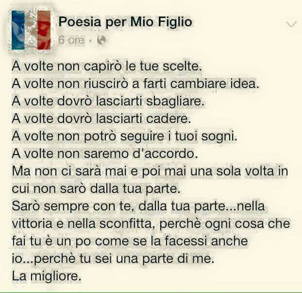 Poesia A Mio Figlio Pensieri Mom Son Poems Dear Mom