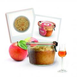 Kuchen des Monats Oktober - Calvaods Kuchen im Glas mit leckeren Butterstreuseln!