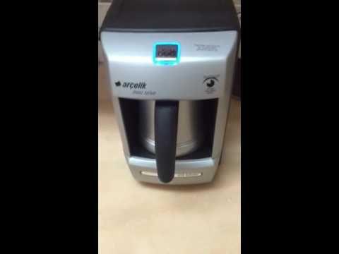 طريقة عمل القهوة التركية باستخدام الة Arcelik Youtube Drip Coffee Maker Coffee Coffee Maker
