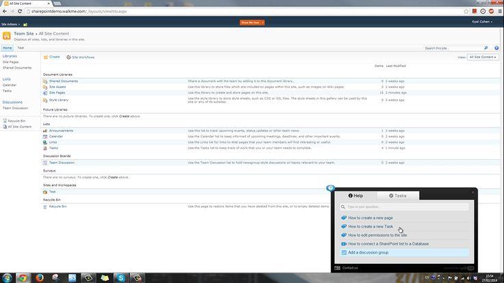 Walkme un outil pour guider vos utilisateurs sur SharePoint  : http://www.touchflows.com/walkme/  Vidéo de démonstration ici : http://vimeo.com/87774935