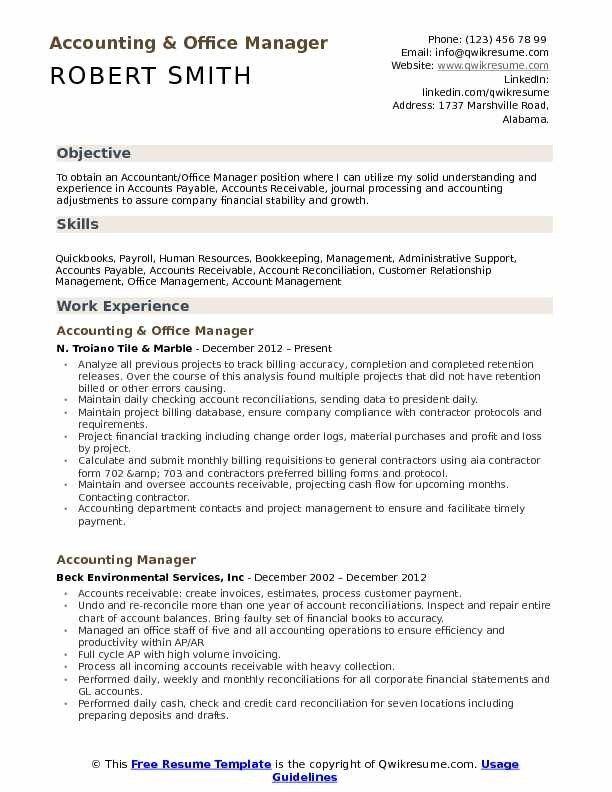 Awesome Office Manager Resume Template Pictures Di 2020 Dengan