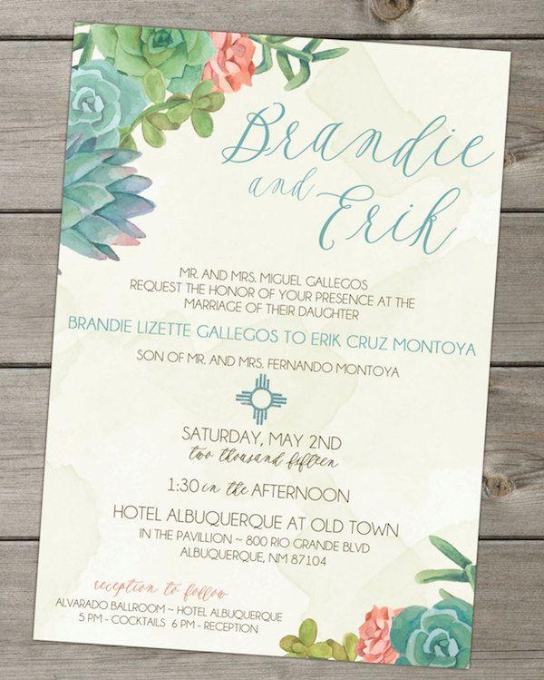 best 25+ succulent wedding invitations ideas on pinterest, Wedding invitations