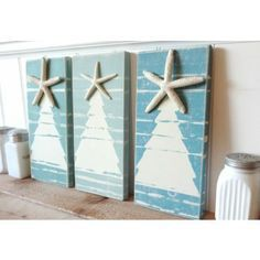 We are thrilled to have found these beach artisan created coastal Christmas signs just in time for the holidays!