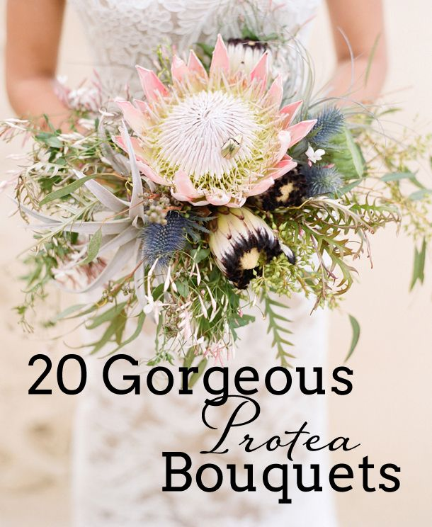 Ah proteas. The love affair that just keeps on going. Everytime I think I might have seen enough protea bouquets to last a lifetime (and let's be honest, as the editor of a South African wedd…