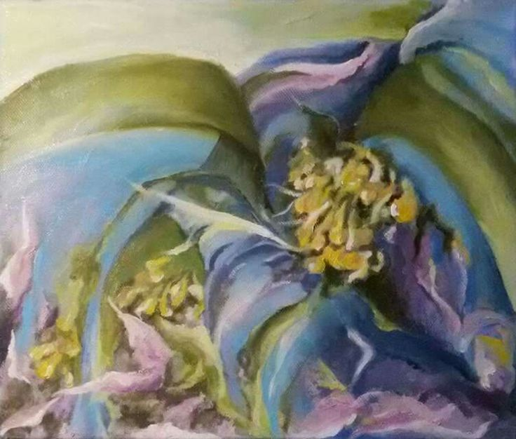 """Mučenka"", olej na plátně 25x30 cm.☺"