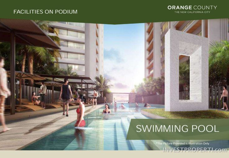 Orange County apartment swimming pool.