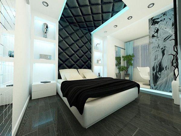 Futuristic Small Apartment Bedroom Ideas for Young Bachelor, Photo  Futuristic Small Apartment Bedroom Ideas for Young Bachelor Close up View.