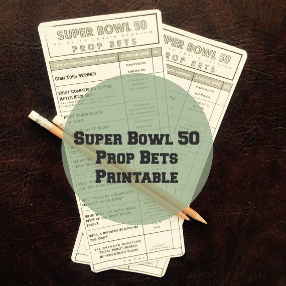 SUPER BOWL 50 Party Game  //  Super Bowl Prop Bets by proPartyPlanner