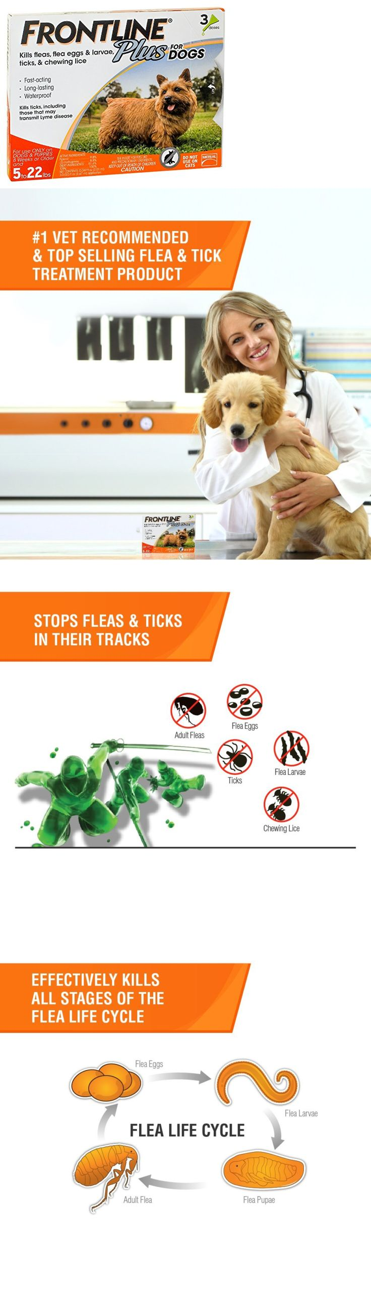Flea and Tick Remedies 20749: Merial Frontline Plus Flea And Tick Control For 5-22 Pound Dogs And Puppies, 3-D -> BUY IT NOW ONLY: $39.53 on eBay!