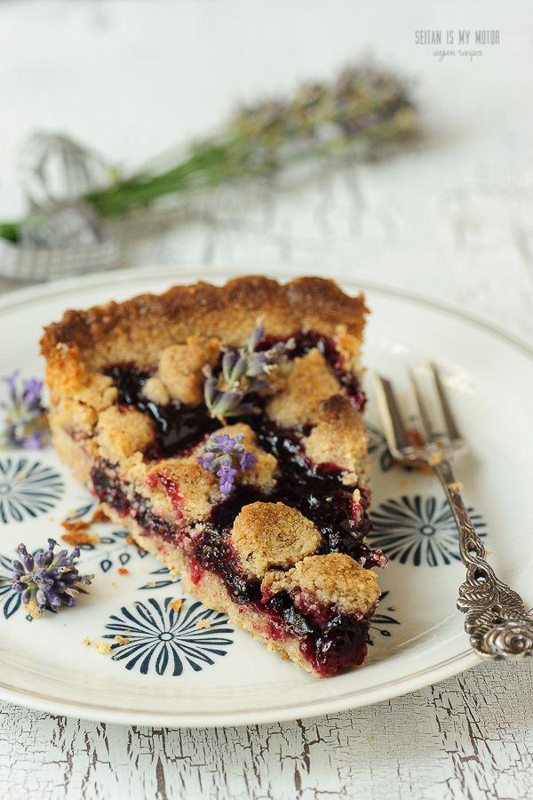 This simple fruit pie has a hidden surprise. Lavender buds underline the complex flavour blackcurrant berries.