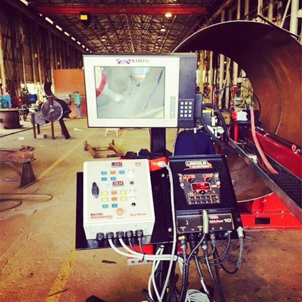 Setting up a submerged arc welding system #subarc #welding #welders #subarcwelding #pipes #pipeline #infrastructure #maintenance #pipeliner