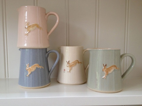Jane Hogben leaping Hare Jug