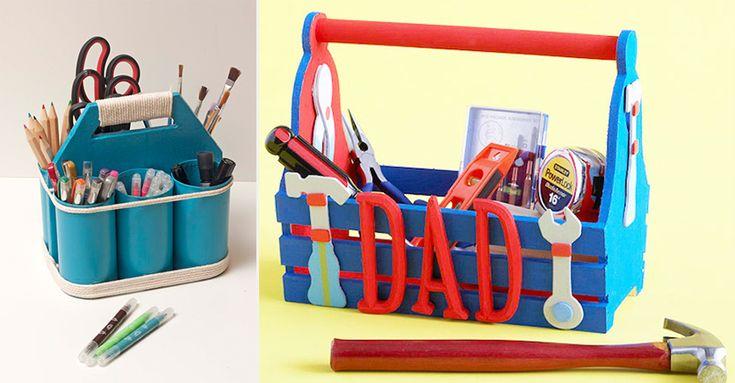 Las 10 mejores ideas #DIY para regalar a papá en el día del padre. Te contamos algunas manualidades fáciles para hacer con tus hijos para el #diadelpadre #regalos #hechoamano