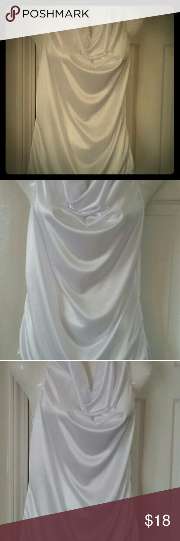 Beautiful,  bright white flowing blouse Beautiful,  bright white flowing blouse. Nwot. Sleeveless Tops Blouses