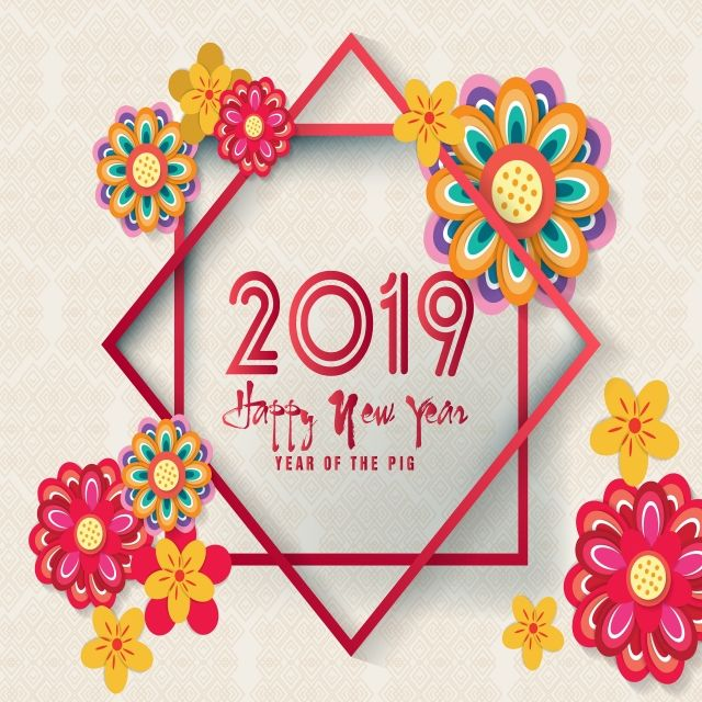 Happy Year 2019 Year Of The Chinese Year Chinese Vector Date Happy Year Png And Vector With Transparent Background For Free Download Chinese New Year Card Happy Chinese New Year Lunar